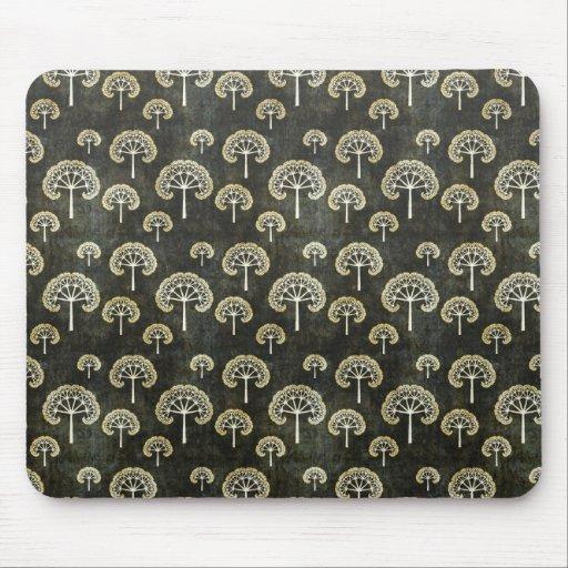 Cool oriental japanese black tree shape pattern mousepad