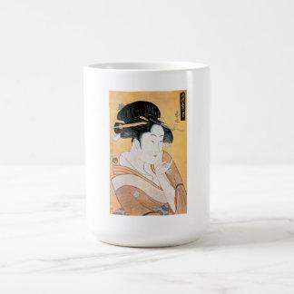 Cool Oriental Japanese Classei Geisha Basic White Mug