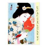 Cool oriental japanese classic geisha lady art