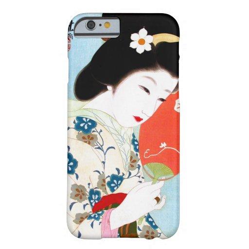 Cool oriental japanese classic geisha lady art iPhone 6 case