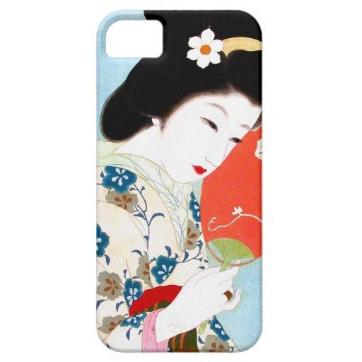 Cool oriental japanese classic geisha lady art iPhone 5 case