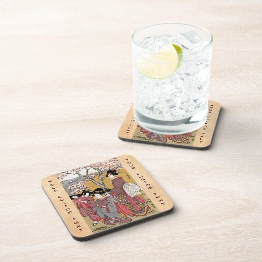 Cool oriental japanese classic geisha lady art coaster