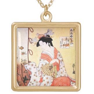 Cool oriental japanese classic geisha lady art coo custom jewelry