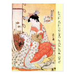 Cool oriental japanese classic geisha lady art coo postcard