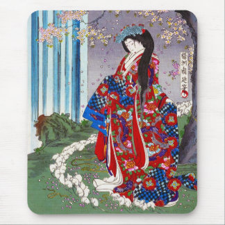Cool oriental japanese classic geisha lady art mouse mat