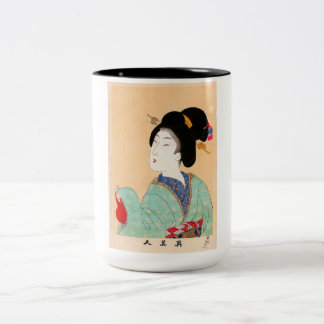 Cool oriental japanese classic geisha lady art mugs