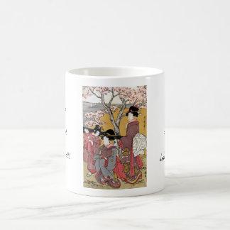 Cool oriental japanese classic geisha lady art coffee mug