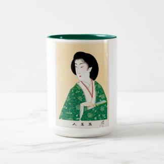 Cool oriental japanese classic geisha lady art mug