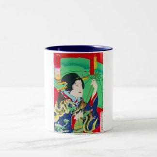 Cool oriental japanese classic geisha lady art coffee mugs