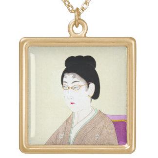 Cool oriental japanese classic geisha lady art custom jewelry