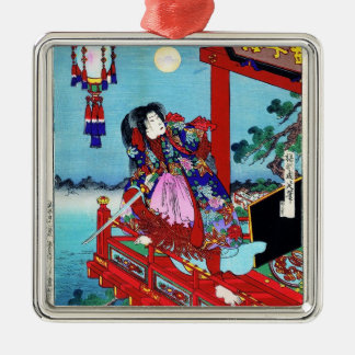 Cool oriental japanese classic Hero Warrior art Christmas Ornament