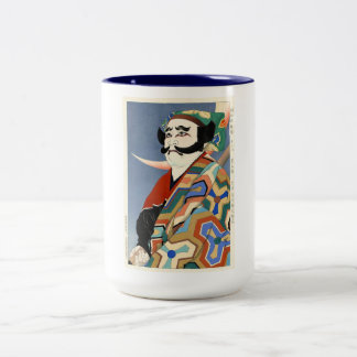 Cool oriental japanese classic kabuki actor art Two-Tone coffee mug