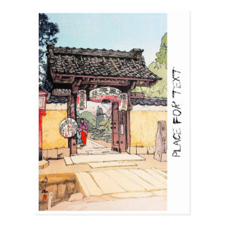 Cool oriental japanese classic Little Templa Gate Postcard