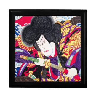 Cool oriental japanese classic samurai swordsman gift box
