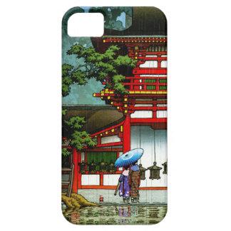 Cool oriental japanese classic temple rain art iPhone 5 cover