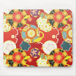 Cool oriental japanese colourful pattern mouse pad