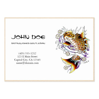 Cool oriental japanese dragon ink lucky koi fish pack of chubby business cards