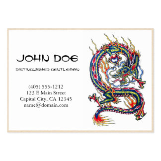 Cool oriental japanese dragon with orb tattoo pack of chubby business cards