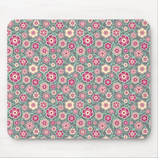 Cool oriental japanese floral flower pattern mouse pad