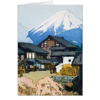 Cool oriental japanese Fuji from Furatsu Yoshida Note Card