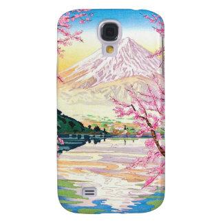 Cool oriental japanese Fuji spring cherry tree art Galaxy S4 Case