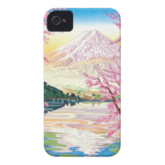 Cool oriental japanese Fuji spring cherry tree art iPhone 4 Case-Mate Cases