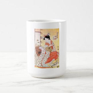 Cool Oriental Japanese Geisha Fan art Mug