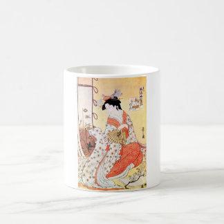 Cool Oriental Japanese Geisha Fan art Coffee Mugs