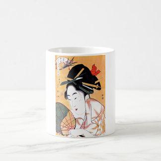 Cool Oriental Japanese Geisha Portrait Coffee Mugs
