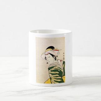 Cool Oriental Japanese Geisha tattoo art Mugs
