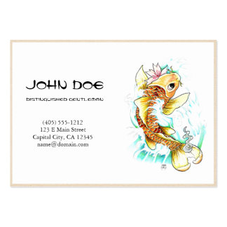 Cool oriental japanese gold ink lucky koi fish pack of chubby business cards