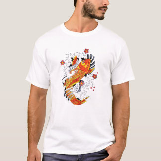 Cool Oriental Japanese Gold Lucky Koi Carp T-Shirt