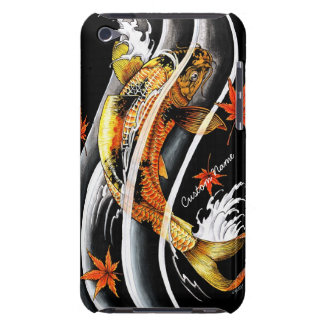Cool oriental japanese Gold Lucky Koi Fish tattoo Barely There iPod Cases