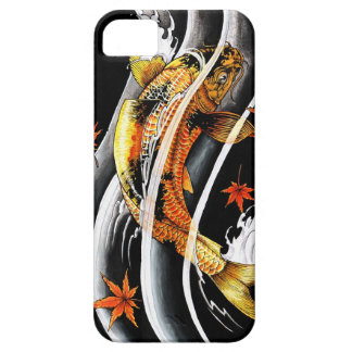 Cool oriental japanese Gold Lucky Koi Fish tattoo Barely There iPhone 5 Case