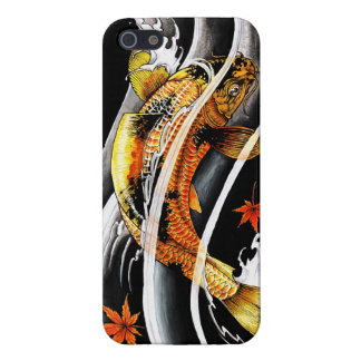 Cool oriental japanese Gold Lucky Koi Fish tattoo Cover For iPhone 5/5S