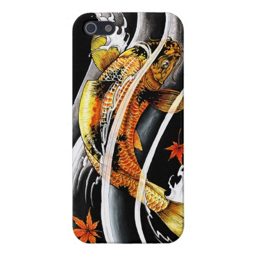 Cool oriental japanese Gold Lucky Koi Fish tattoo iPhone 5 Cover