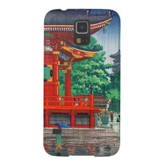 Cool oriental japanese hasui Kawase shrine in rain Galaxy S5 Cases