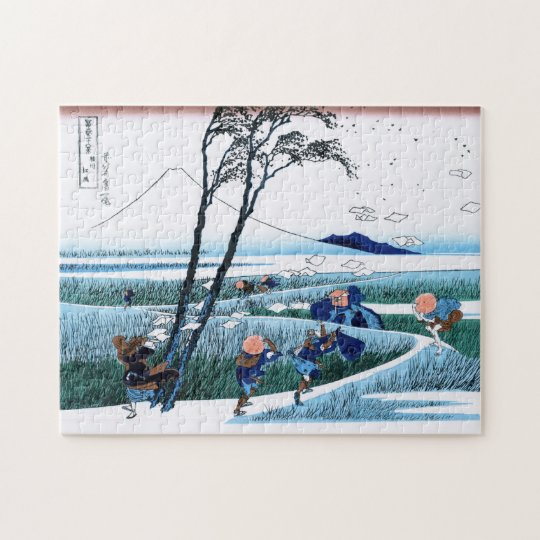 Cool oriental japanese Hokusai Fuji View landscape Jigsaw
