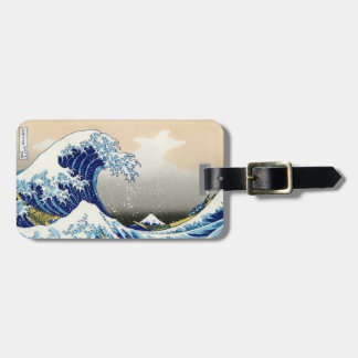 Cool oriental japanese Hokusai Fuji View landscape Luggage Tag