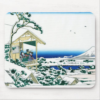 Cool oriental japanese Hokusai Fuji View landscape Mouse Mat