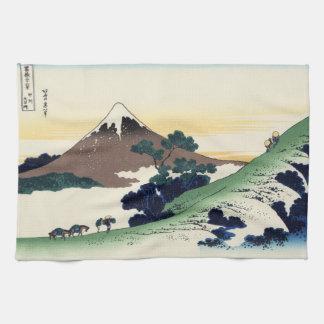 Cool oriental japanese Hokusai Fuji View landscape Tea Towel