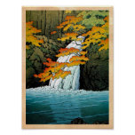 Cool oriental japanese Kawase Senju Waterfall art