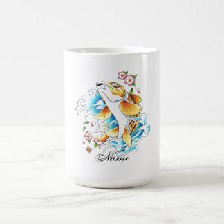 Cool Oriental Japanese Koi Carp Fish Water tattoo Coffee Mugs