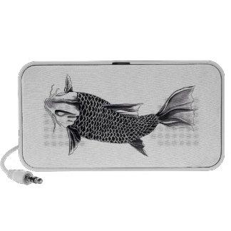 Cool Oriental Japanese Koi Carp Fish Watercolor iPod Speakers