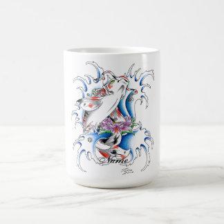 Cool Oriental Japanese Koi Carp Water tattoo Basic White Mug