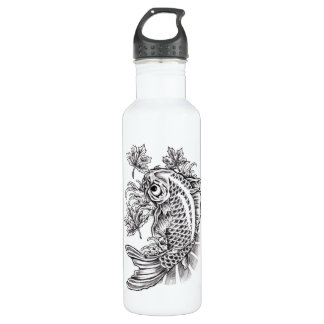 Cool Oriental Japanese Koi Fish Carp tattoo 710 Ml Water Bottle