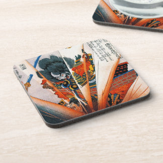 Cool oriental japanese Kunioshi Samurai Warrior Coaster