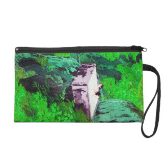 Cool oriental japanese Ladies in Hot Spring art Wristlet Clutch