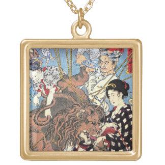 Cool oriental japanese Lion fall in Love art Custom Jewelry