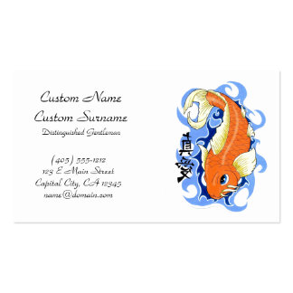 Cool oriental japanese orange ink lucky koi fish pack of standard business cards